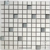 Декоративна мозаїка Котто Кераміка CM 3043 C2 CREAM SILVER 300x300x8 мм