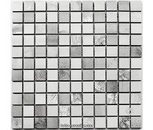 Керамическая мозаика Котто Керамика CM 3021 C2 IMPRASION GRAY WHITE 300x300x10 мм