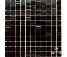 Керамическая мозаика Котто Керамика CM 3001 C2 BLACK BLACK STR 300x300x10 мм