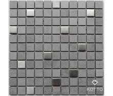 Декоративная мозаика Котто Керамика CM 3026 C2 GRAY METAL MAT 300x300x8 мм
