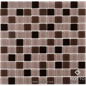 Стеклянная мозаика Котто Керамика GM 4010 C3 CAFFE D CAFFE M CAFFE W 300х300х4 мм