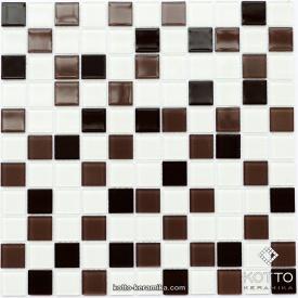 Стеклянная мозаика Котто Керамика GM 4011 C3 CAFFE D CAFFE M WHITE 300х300х4 мм