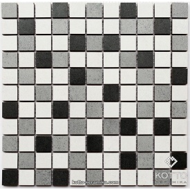 Керамическая мозаика Котто Керамика CM 3028 C3 GRAPHIT GRAY WHITE 300x300x8 мм
