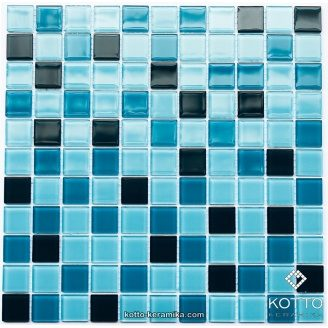 Стеклянная мозаика Котто Керамика GM 4020 C3 CERULEAN D CERULEAN M CERULEAN W 300х300х4 мм