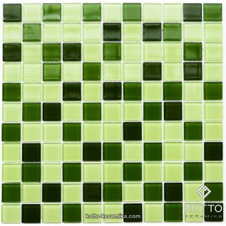 Стеклянная мозаика Котто Керамика GM 4029 C3 GREEN D GREEN M GREEN W 300х300х4 мм