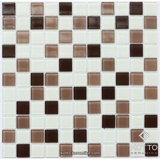 Стеклянная мозаика Котто Керамика GM 4035 C3 CAFFE M CAFFE W WHITE 300х300х4 мм