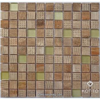 Декоративная мозаика Котто Керамика CM 3040 C2 BROWN GOLD 300x300x8 мм