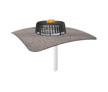Одношарова покрівельна воронка для покрівель без теплоізоляції з привареним бітумним фартухом