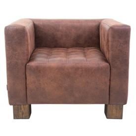 Кресло Спейс Richman 900х740 мм коричневый кожзам