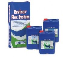 Обмазувальна еластична гідроізоляція Revinex Flex + Revinex Flex FP