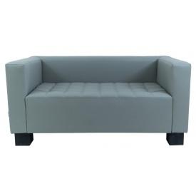 Двомісний диванчик Спейс Річман 1500х740х740 мм кожзам сіро-блакитний колір