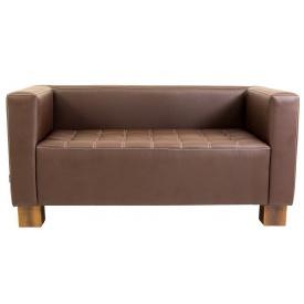 Двомісний диванчик Спейс Річман 1500х740х740 мм кожзам шоколадний