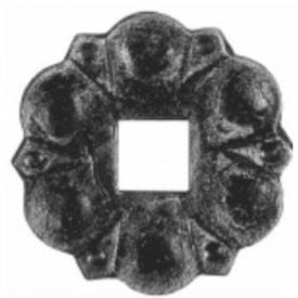 Пятка кованная металлическая 110х110х4 мм (44.036)
