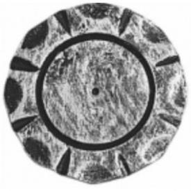 Пятка кованная металлическая 65х65х4 мм (44.026)