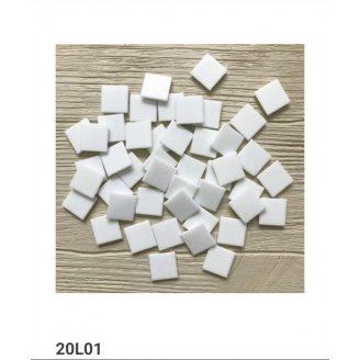 Мозайка VIVACER 20L01 white на бумаге 32.7x32.7 см