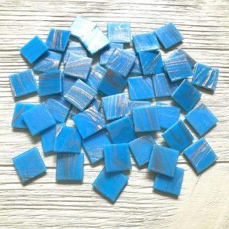 Мозайка Vivacer 20Z16 синяя с авантюрином