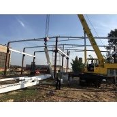 Монтаж металоконструкцій споруди