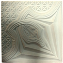 Ліпний декор з гіпсу Де/115 37х37 см