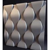 Гіпсові панелі «Луска» 3D/02 50х50х2,5 см