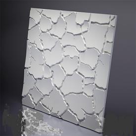 Гіпсові панелі «Кора» 3D/09 50х50х2 см