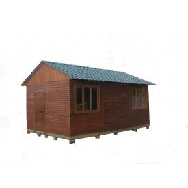 Каркасно-щитовой деревянный дом 6х3 м