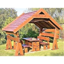 Беседка сборно-разборная деревянная передвижная 3x2,5