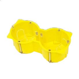 Подрозетник для выключателей DOUBLE IP 3X 65x135x45 мм