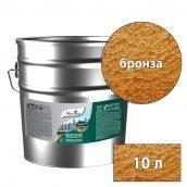 Молотковая краска антикоррозийная по металлу 3в1 Rust stop metal enamel MAXIMA бронзовый 10 л