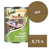 Морилка акриловая глубокого проникновения Acrylic Impregnate MAXIMA дуб 0,75 л