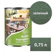 Морилка акриловая глубокого проникновения Acrylic Impregnate MAXIMA зеленый 0,75 л