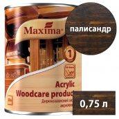 Лазурь акриловая деревозащитная Acryliс woodcare product MAXIMA палисандр 0,75 л