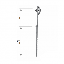 Держатель проволоки фасадный M8 100/160 мм нержавейка IN KovoFlex