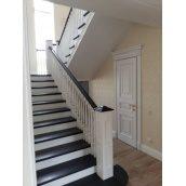 Межэтажная лестница с площадкой на 180'