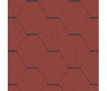 Битумная черепица Aquaizol Мозаика 1000*320 мм красная