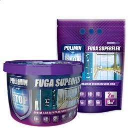 Затирка для швов Полимин Суперфлекс белая 2 кг