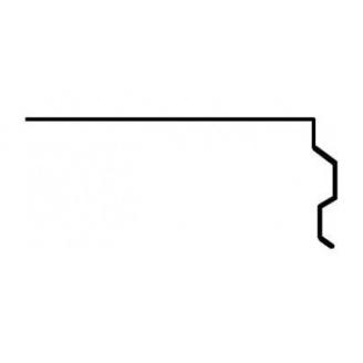 Планка Aquaizol ПТ-1 торцева 0,5 мм 2 м коричневий