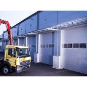 Промышленные секционные ворота KRUZIK Base+ с лебёдкой 4000х3500 мм