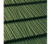 Композитная черепица QueenTile SHAKE 1-тайловая 1175x420 мм Green