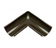 Внутренний угол желоба Акведук Премиум 90 градусов 125 мм темно-коричневый RAL 8019