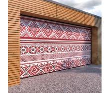 Гаражні секційні ворота KRUZIK Base 2500х2500 мм Dura Print Exclusive вишиванка