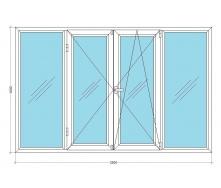 Лоджія VIKNAR'OFF Fenster 400 з 1-камерним склопакетом 2,5x1,6м