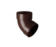 Отвод двухмуфтовый Rainway 67 градусов 100 мм коричневый