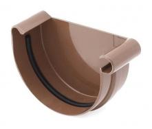 Заглушка желоба правая Bryza R 100 мм коричневый
