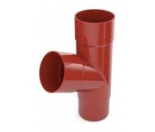 Тройник трубы Bryza 125 245х90,2х90,2х84,5 мм красный