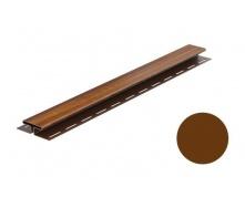 Монтажная планка для софита Galeco DECOR тип H 4000 мм ореховый