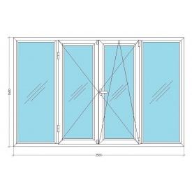 Лоджия VIKNAR'OFF Fenster 400 с 1-камерным стеклопакетом 2,5x1,6м