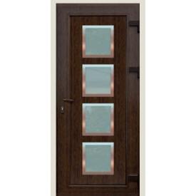 Металопластикові фасадні двері SP-72 900х2050 мм Горіх
