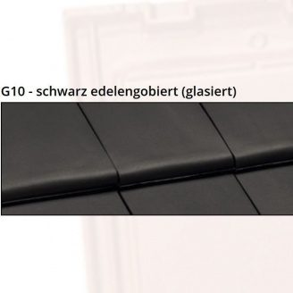 Керамическая черепица NELSKAMP G10 48,6х29,6 см schwarz edelengobiert glasiert
