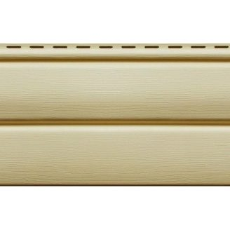 Вініловий сайдинг Ю-ПЛАСТ Блок-Хаус 3,4 м Кремовий