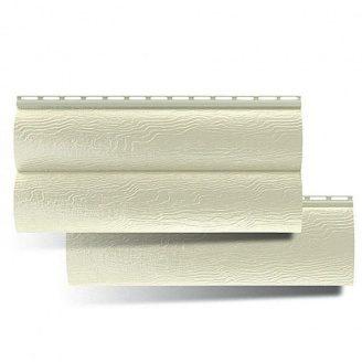 Виниловый сайдинг Альта-Профиль BlockHouse кремовый двухпереломный